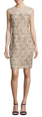 Carmen Marc Valvo Illusion Lace Sheath Dress $680 thestylecure.com