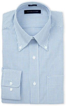 Tommy Hilfiger Andes Blue Check Regular Fit Dress Shirt
