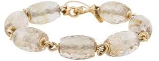 Me & Ro Me&Ro 18K Rutilated Quartz Bead Bracelet