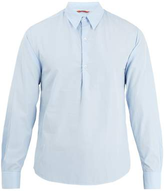 Barena VENEZIA Single-cuff point-collar cotton-poplin shirt