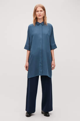 Cos SHIRT DRESS WITH CIRCLE-CUT BACK