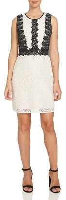 Women's Cece Colorblock Lace A-Line Dress $149 thestylecure.com