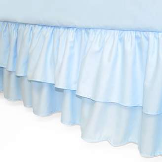 American Baby Company Double Layer Ruffled Crib Skirt, Blue