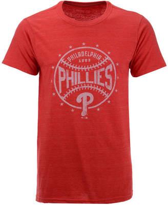 Majestic Men Philadelphia Phillies Two Seam Tri-Blend T-Shirt
