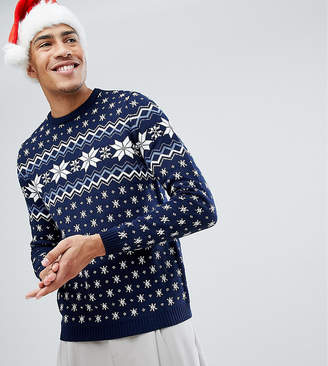Asos TALL Holidays Sweater With Snowflake Design