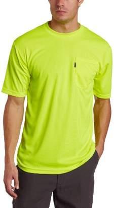 Key Apparel Men's Short Sleeve Enhanced Visibility Waffle Weave Pocket Tee Shirt