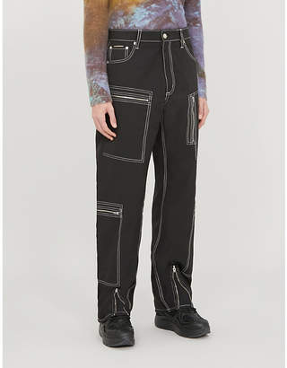 Eytys Benz zip-pocket relaxed-fit wide woven trousers