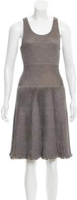 Maison Rabih Kayrouz Sleeveless Metallic Dress