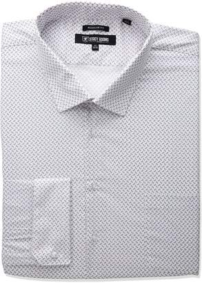 Stacy Adams Men's Big and Tall Mini Print Dress Shirt