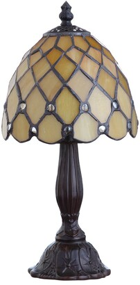 Jonathan Y Designs Campbell Tiffany-Style 12.5In Led Table Lamp