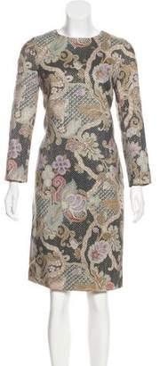Dries Van Noten Wool & Silk Metallic-Accented Dress