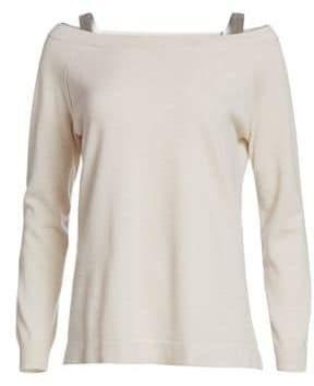 Brunello Cucinelli Sparkle Strap Cashmere Sweater