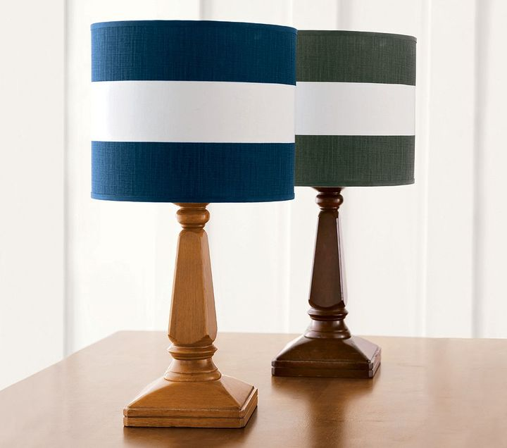 Rugby Stripe Shade  Aiden Lamp Base