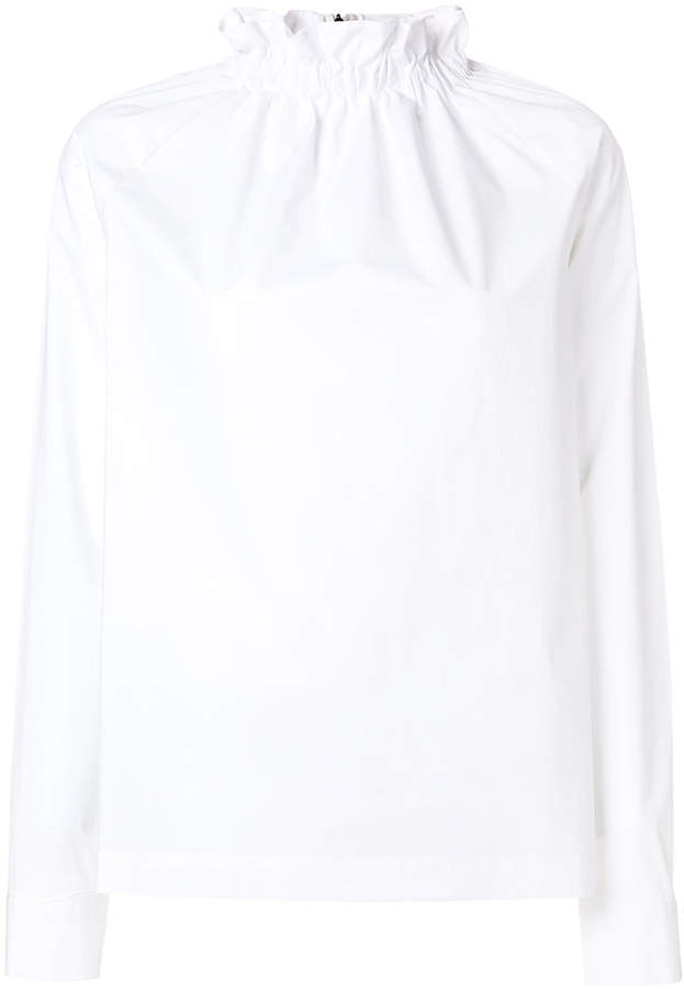 MSGM frilled high neck blouse