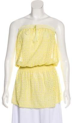 Melissa Odabash Strapless Crochet Tunic