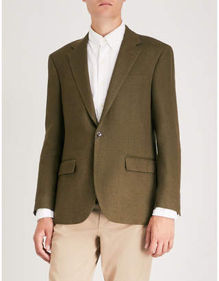 Polo Ralph Lauren Herringbone regular-fit wool and linen-blend jacket