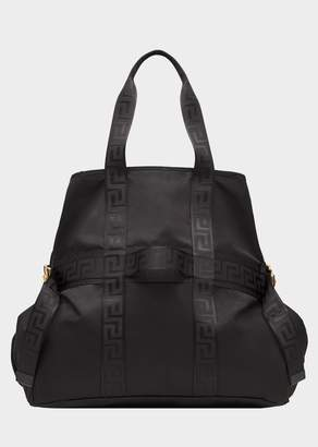 Versace Greca Ribbon Top Handle Bag