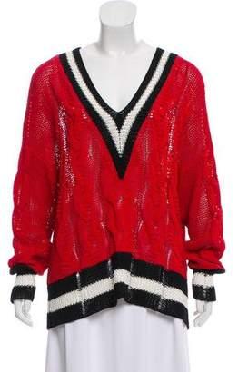 Rag & Bone V-Neck Cable Knit Sweater