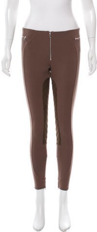 Marc Jacobs Marc Jacobs Wool Suede-Trimmed Leggings w/ Tags