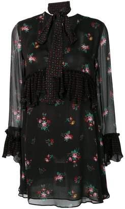 Pinko floral print ruffle dress