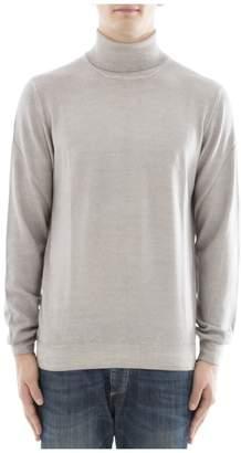 Gran Sasso Grey Wool Turtleneck