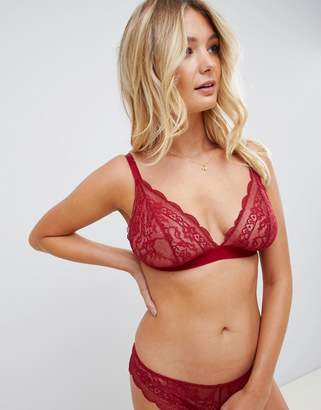 Roxy ASOS DESIGN Fuller Bust lace triangle bra