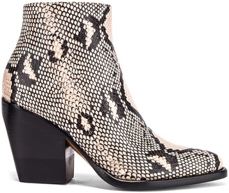 Chloé Rylee Python Print Leather Ankle Boots in Eternal Grey | FWRD