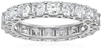 Swarovski Platinum-Plated Sterling Silver Zirconia Asscher-cut Eternity Band Ring