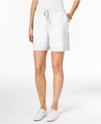 Karen Scott Pull-On Active Shorts, Only at Macy's $14.98 thestylecure.com