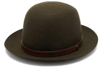 Borsalino Leather Trim Bowler Hat - Mens - Green
