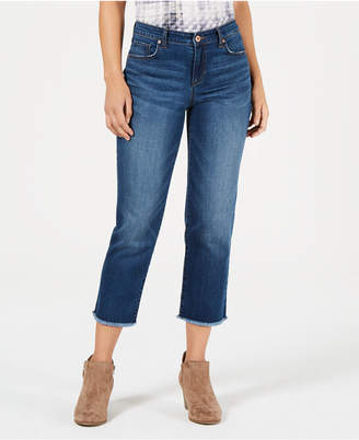 Style&Co. Style & Co High-Rise Cropped Curvy-Fit Straight-Leg Jeans, Created for Macy's
