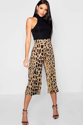 boohoo Leopard Print Slinky Culottes