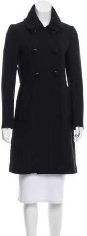 prada Prada Knee-Length Double-Breasted Coat