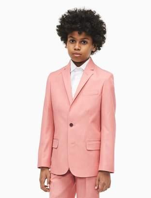 Calvin Klein boys textured twill suit jacket