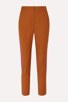 Roksanda Colwyn Satin-trimmed Twill Tapered Pants - Orange
