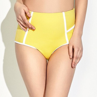 Pink Label Gerbera Piped Bikini Bottoms