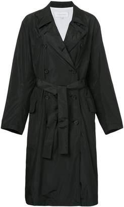 CK Calvin Klein belted lightweight raincoat