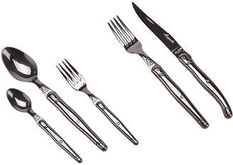 "Jean Dubost Le Thiers Stainless Steel Flatware""Laguiole"" (Set of 20)"