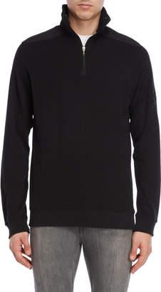 British Polo Quarter-Zip Ribbed Pullover