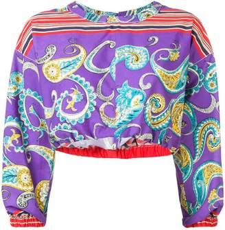 Philosophy di Lorenzo Serafini cropped paisley blouse