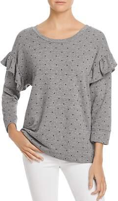 Current/Elliott The Ruffle Star-Print Sweatshirt