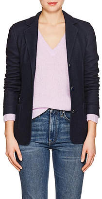 Xo Barneys Colombo Women's Cashmere-Silk Fitted Blazer - Navy