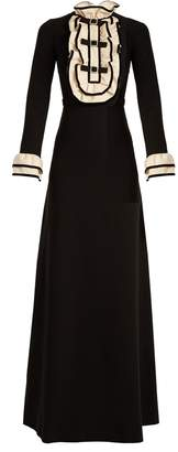 Gucci Ruffle-trimmed crepe-jersey gown