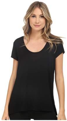 Heather Scoop Neck Tee Women's Short Sleeve Pullover