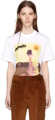 Prada White Yellow Dress Girl Poster T-Shirt