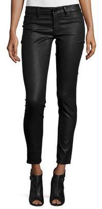 DL1961 Premium Denim Emma Coated Power Legging Jeans, Char $188 thestylecure.com