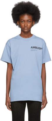 Ambush SSENSE Exclusive Blue Logo T-Shirt