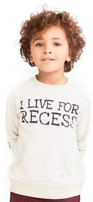 art & eden I Live For Recess Long Sleeve Pocket Sweatshirt