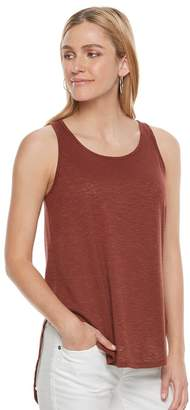 Sonoma Goods For Life Women's SONOMA Goods for Life Lace-Up High Low Tank