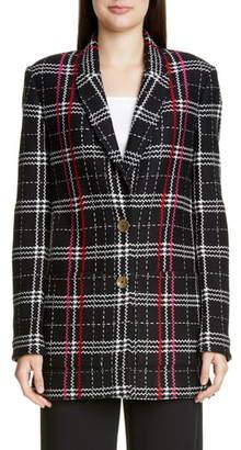 St. John Bold Plaid Wool Blend Jacket